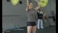 Christy Phillips Does Fran at Primal Fitness