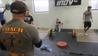 CrossFit - Fixing Malleolo's Snatch Form with Coach Burgener