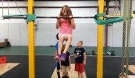 CrossFit Forney Kids Doing Pull Ups