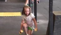 McKenzie on the Crossfit Kids Obstacle Course