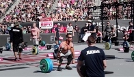 Neal Maddox pound clean at Crossfit Games