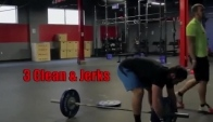 Rich froning crossfit workout Wall balls and clean and jerks