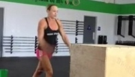 Talayna Fortunato Box Jumps