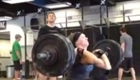 Talayna Fortunato hits push press bear complex