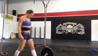 Talayna Squat Clean and Jerk Pr